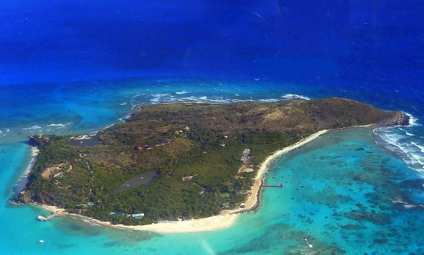 Личный остров-дом (Neker Island) миллиардера должен стать залогом. Фото: giggel (CC BY 3.0)